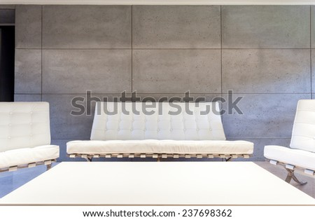 White luxury furniture in modern living room