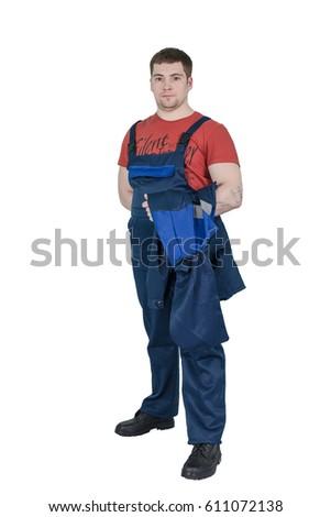 Man in work uniform