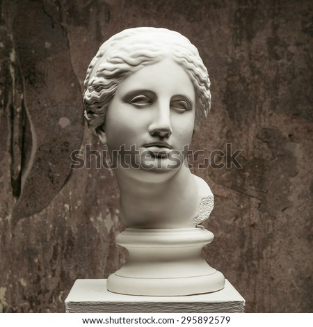 white marble head of young...