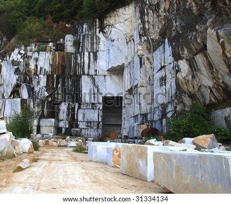 White marble quarry. carrara, italy