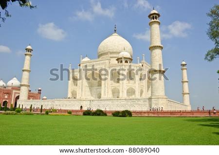 White marble Taj Mahal, India