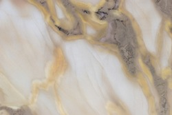 White marble texture with gold and grey natural pattern for background or design art work