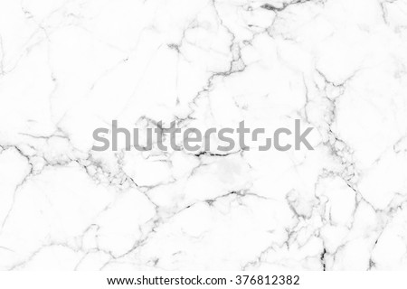 White marble texture with natural pattern for background or design art work. #376812382