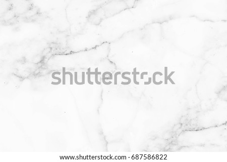 White marble texture with natural pattern for background or design art work.