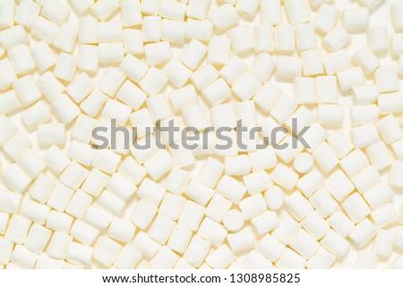 White marshmallows texture. Marshmallows food background.  #1308985825