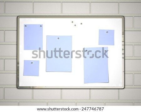 White message board with notes