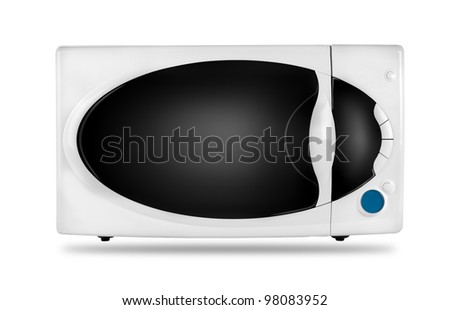 White microwave oven isolated on a white background