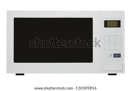 white microwave oven isolated on white