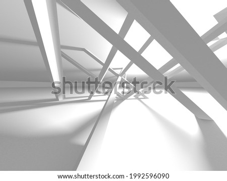 White Modern Background. Abstract Building Concept. 3d Render