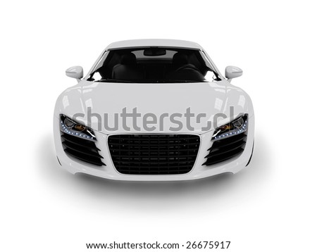 White modern car isolated on black background. isolated on black background. Excellent material for web banners