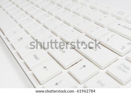 white modern computer keyboard - stock photo