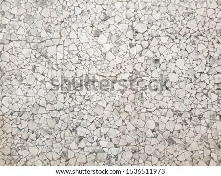 White mosaic. Mosaic pattern. Many little mosaics