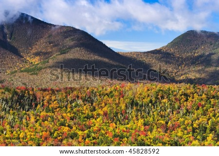 White Mountains in the fall with peak colors