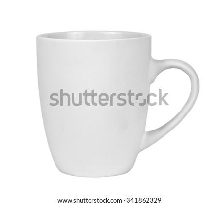 White mug isolated on white background