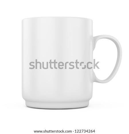 white mug isolated on white background. 3d rendered image