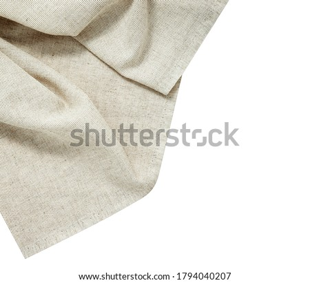 White napkin tablecloth. Dish towel isolated on white background Stock photo ©