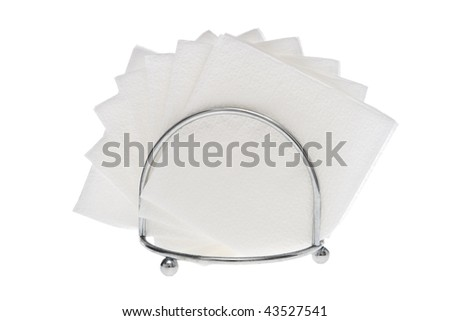 White napkins on white.