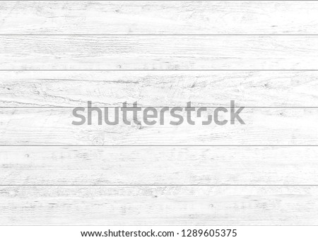White natural wood wall background. Wood pattern and texture for background. #1289605375