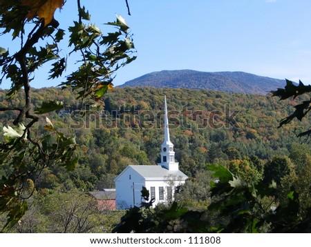 White New England Church