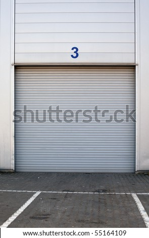 white new metal garages gate