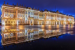 White Nights in St Petersburg. State Hermitage Museum