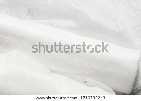 White non woven fabrick roll, textured background Photo stock ©