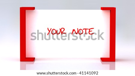 white note board can be editable by your self