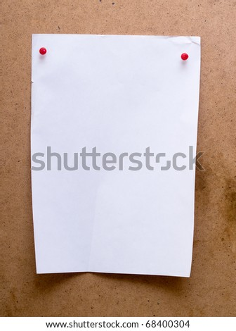 white note paper on wood background