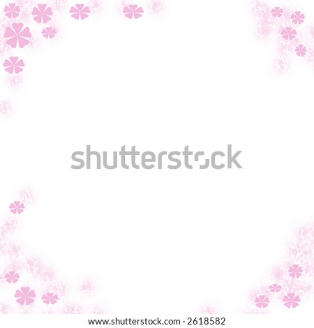 stock photo : white note paper with flower border card clip-art