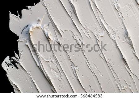 WHITE OIL PAINT TEXTURE ON A BLACK