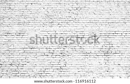 white old brick wall