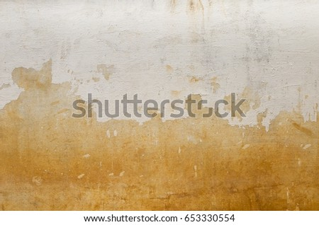 White old paint on cement wall texture background #653330554
