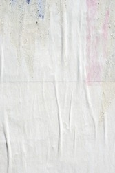 White old paper ripped torn background blank creased crumpled posters grunge textures placard surface backdrop