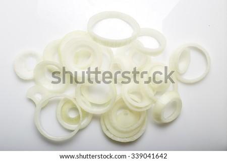 white onion slices