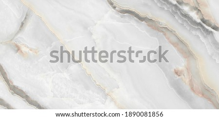 White Onyx Marble Texture, High Resolution Italian Smooth Onyx Marble Stone Background Used For Interior Exterior Home Decoration And Ceramic Granite Tiles Surface. Foto stock ©