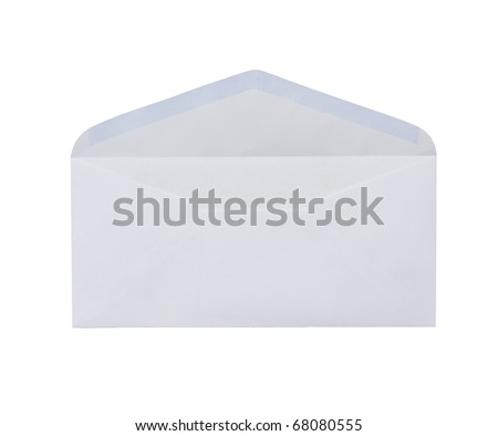 white open envelope isolated on white background