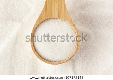 White Organic Cane Sugar against a background