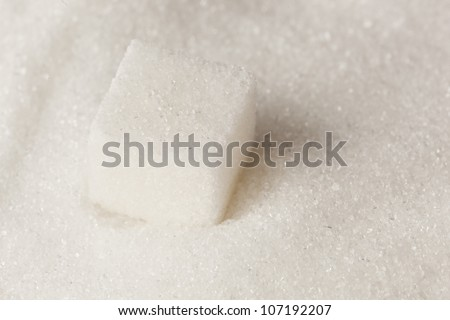 White Organic Cane Sugar against a background #107192207