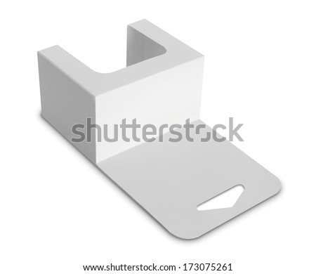 white Package Box. For Software and other products isolated over white background