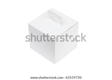 White package box isolated on white background