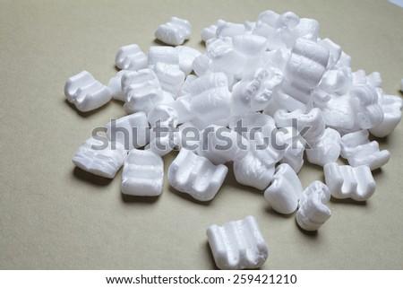 white packaging filling