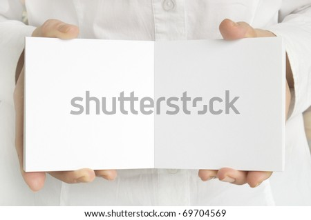 white page in hands
