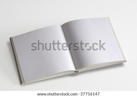 White pages book isolated over white background.