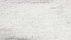 White painted brick wall texture