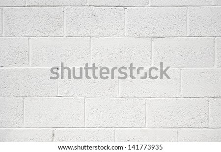 white painted concrete block wall background texture
