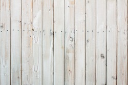 White painted old wooden planks wall background