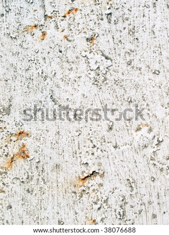 White painted surface background.