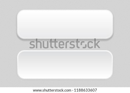 White pair of buttons on gray background. Web icons. Illustration. Raster version #1188633607