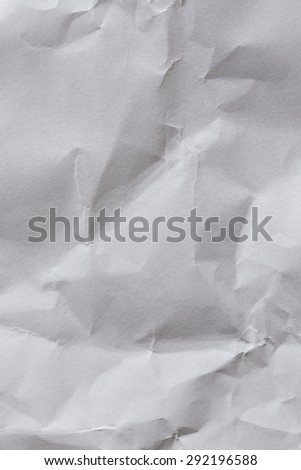 White Paper Background Crumpled/ White Paper Sheet Crumpled Background