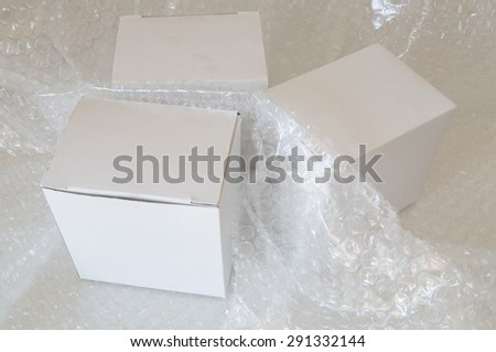 white paper box and air bubble